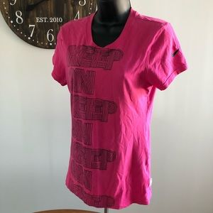 Nike Women's Small Pink Graphic Tee